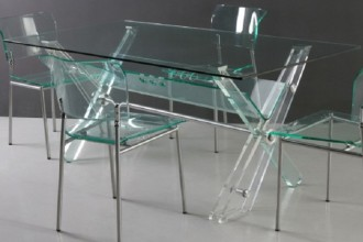 728x597px 6 Unique Clear Acrylic Dining Table Picture in Living Room
