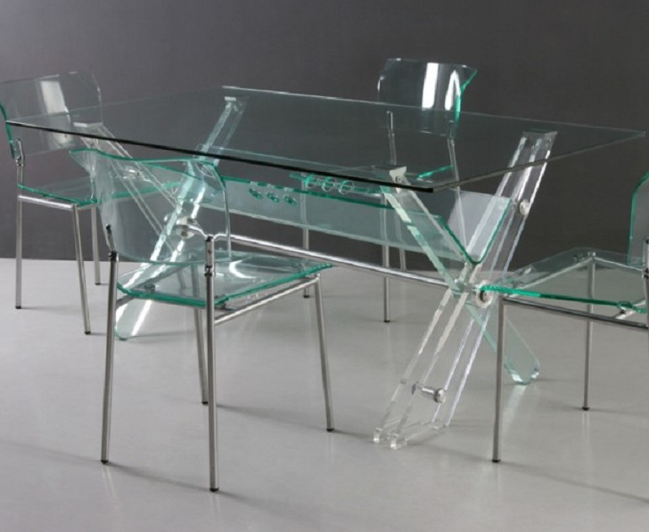 Living Room , 6 Unique Clear Acrylic Dining Table : Transparent Acrylic Dining Table