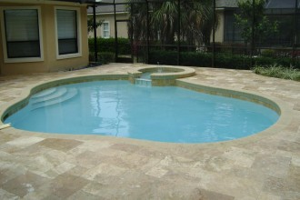 922x692px 7 Hottest Travertine Pool Deck Picture in Others