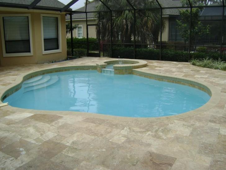 Others , 7 Hottest Travertine Pool Deck : Travertine Deck Gallery