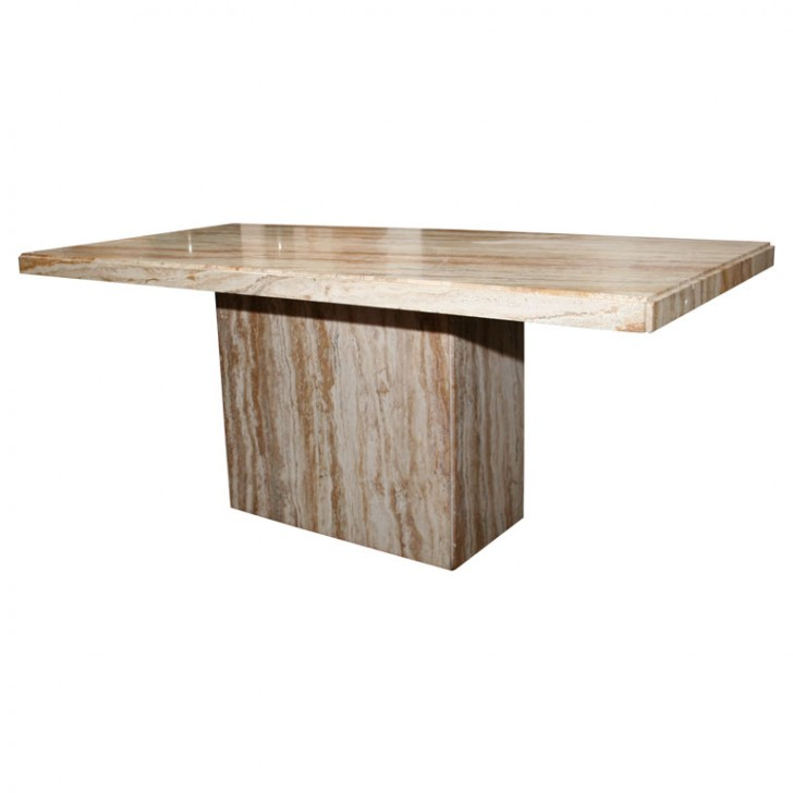 Furniture , 8 Fabulous Travertine DiningRoom Table : Travertine Dining Table