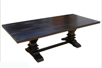 640x640px 7 Nice Solid Wood Trestle Dining Table Picture in Furniture