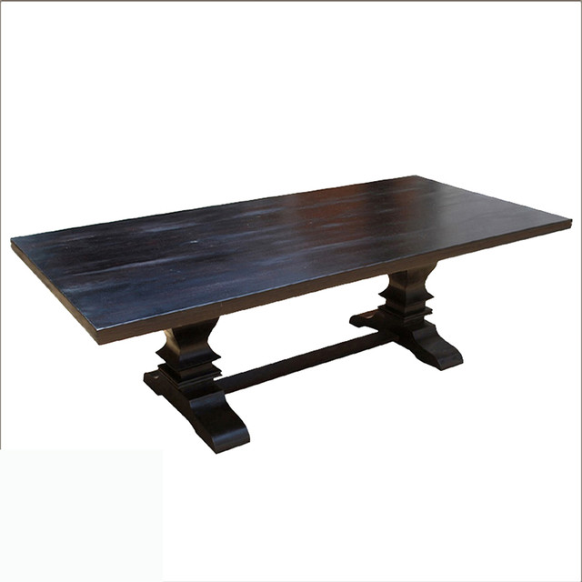 Furniture , 7 Nice Solid Wood Trestle Dining Table : Trestle Pedestal Dining Table