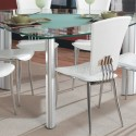 Triangle Glass Top Modern Dining Table , 5 Nice Triangular DiningTable In Dining Room Category