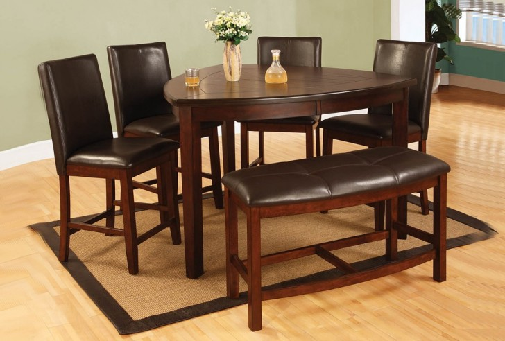 Dining Room , 7 Awesome Triangle Dining Table With Benches : Triangle Shape Counter Height Table