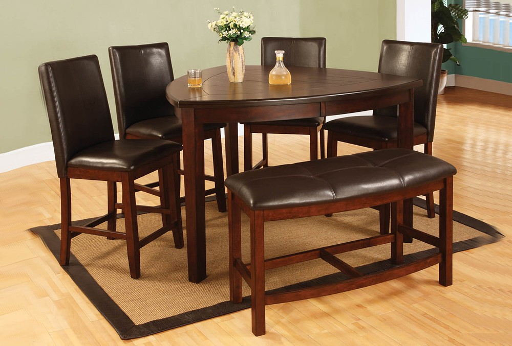 1000x677px 7 Awesome Triangle Dining Table With Benches Picture in Dining Room