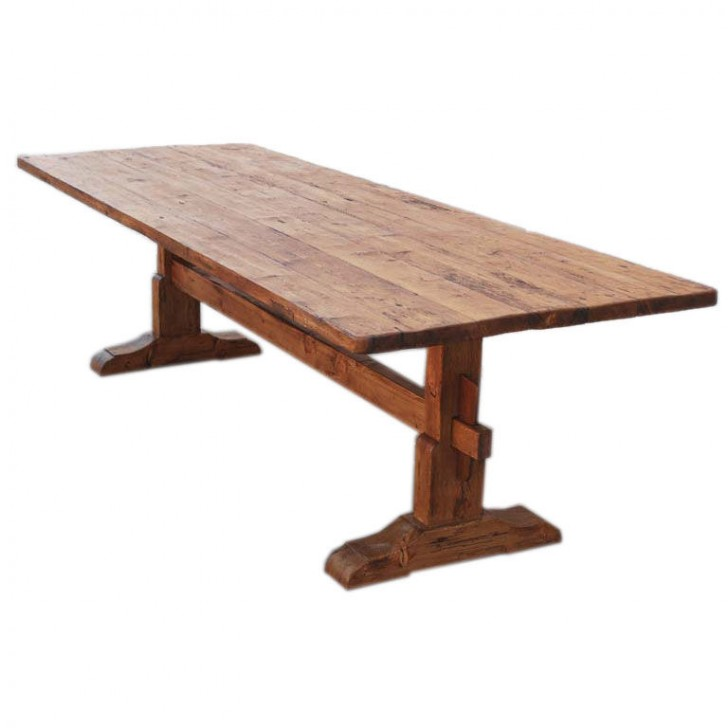 Furniture , 8 Fabulous Pine Trestle Dining Table : Vintage Pine Trestle Table
