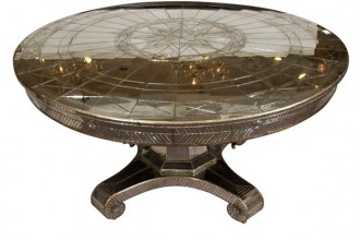 600x600px 8 Awesome Round Mirrored Dining Table Picture in Furniture
