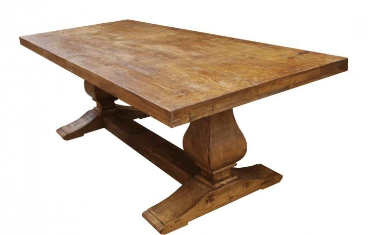 Furniture , 7 Fabulous Reclaimed Wood Trestle DiningTable : Wood Trestle Dining Table