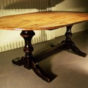 Wooden Oval Countertop Table , 6 Ultimate Black Trestle Dining Table In Furniture Category