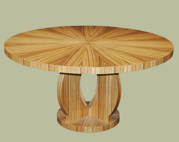 Furniture , 7 Stunning Zebra Wood Dining Table : Zebra Wood Dining Table