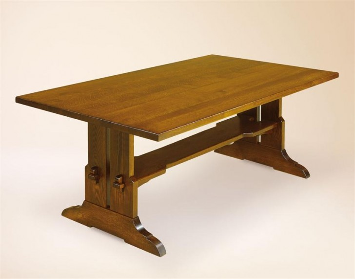 Furniture , 7 Charming Trestle Dining Table Plans : Amish Dining Room Tables