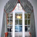 arched window , 7 Superb Arched Window Curtains In Interior Design Category