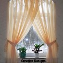 arched windows curtains , 7 Superb Arched Window Curtains In Interior Design Category
