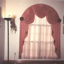 bathroom window curtains , 7 Superb Arched Window Curtains In Interior Design Category