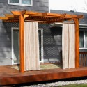 Homes , 8 Top Outdoor curtains for pergola :  blackout curtains