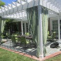 curtains Home Design , 8 Outstanding Pergola Curtains In Homes Category
