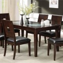 dining table and chairs , 7 Fabulous Cracked Glass DiningTable In Dining Room Category