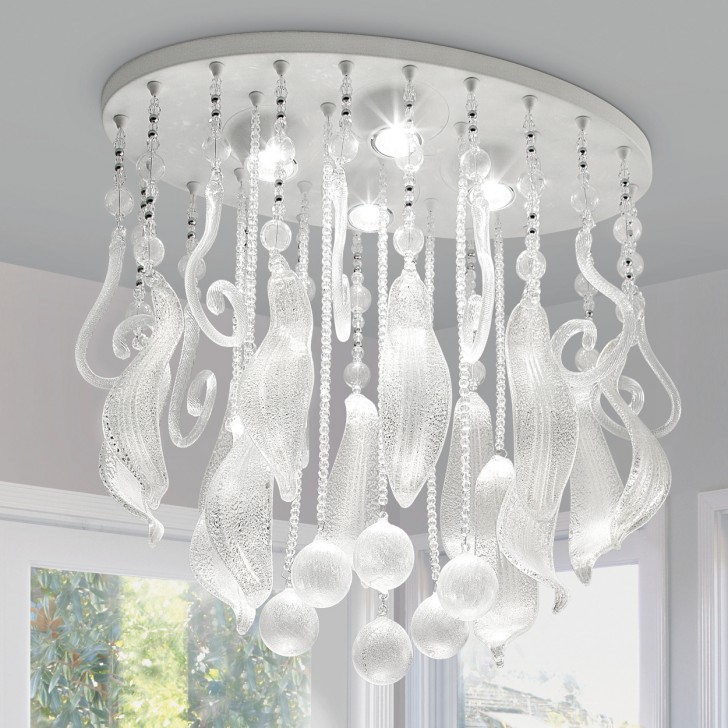 Lightning , 8 Fabulous Murano Glass Chandelier : glass crystal chandelier