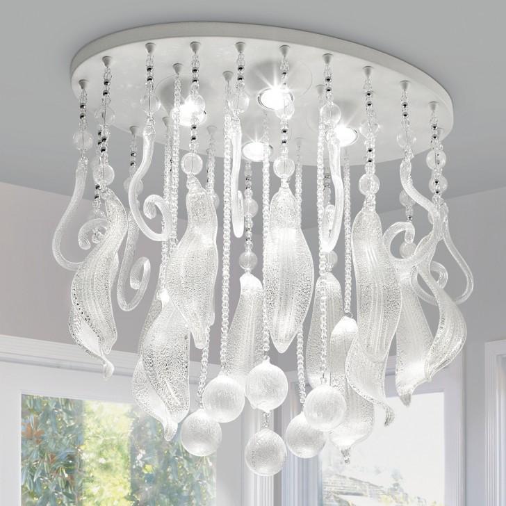 Lightning , 8 Fabulous Murano Glass Chandelier : glass crystal chandelier