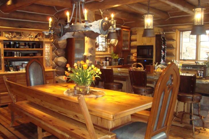 Kitchen , 5 Best Log Cabin Interior Design Ideas :  Interior Home Design Ideas