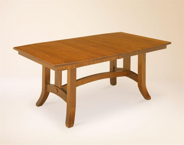 Furniture , 6 Hottest Trestle Dining Room Tables : kitchen dining amish dining room