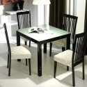 lacquered glass top dining table , 7 Awesome Glass Topped Dining Tables In Dining Room Category