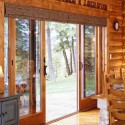log home dining room , 6 Gorgeous Window Treatment For Sliding Glass Door In Others Category