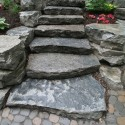 orilia slab stone steps , 7 Stunning Cobblestone Pavers In Others Category