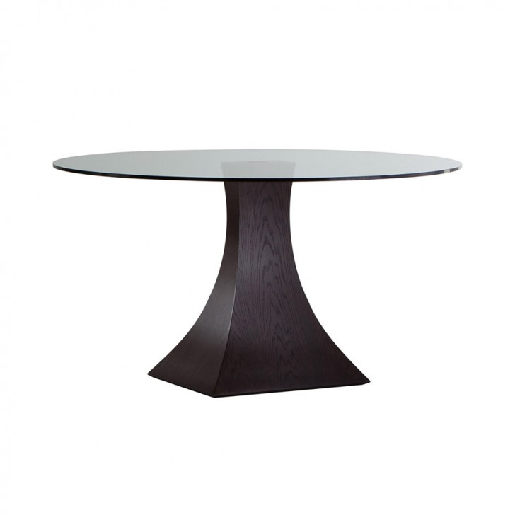 Furniture , 7 Unique Dining Table Pedestals For Glass Tops : pedestal dining table glass