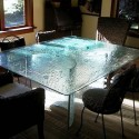 plate marthas glass table , 7 Fabulous Cracked Glass DiningTable In Dining Room Category