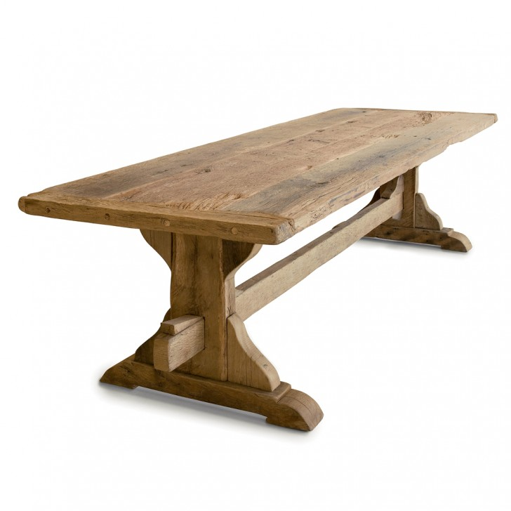 Furniture , 6 Perfect Reclaimed Oak Dining Table : reclaimed wooden dining table