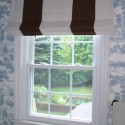roman blind , 7 Superb Striped Roman Shades In Interior Design Category
