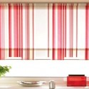 roman shades , 7 Superb Striped Roman Shades In Interior Design Category