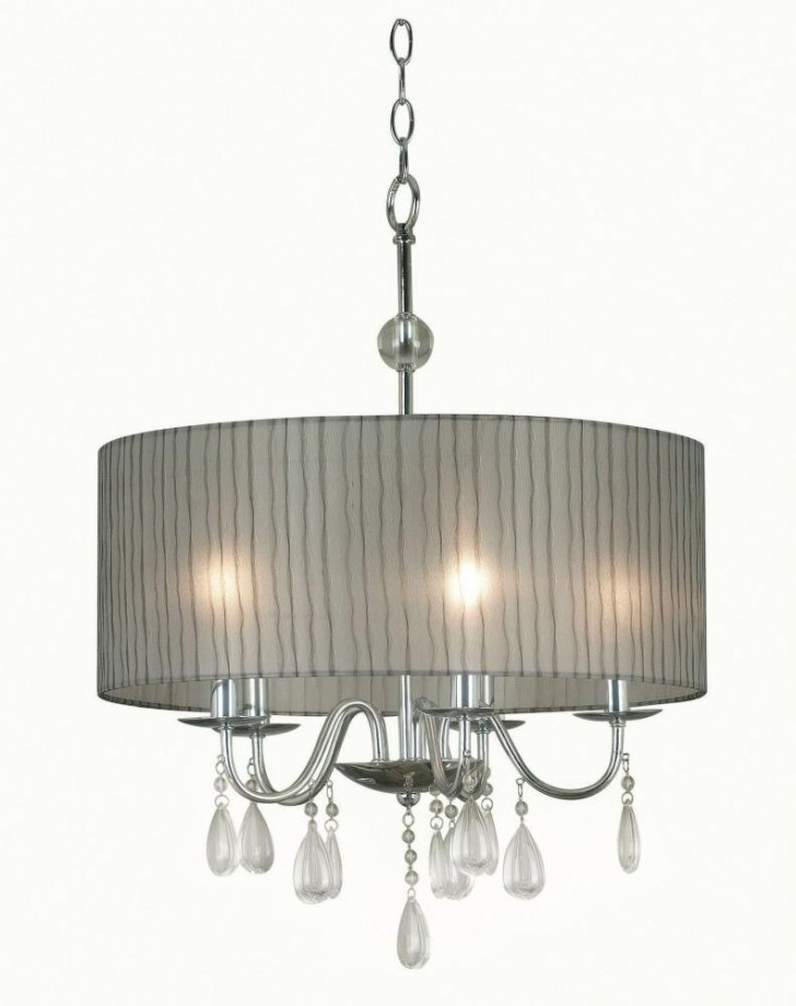 Lightning , 8 Stunning Drum Shade Chandelier : selected features