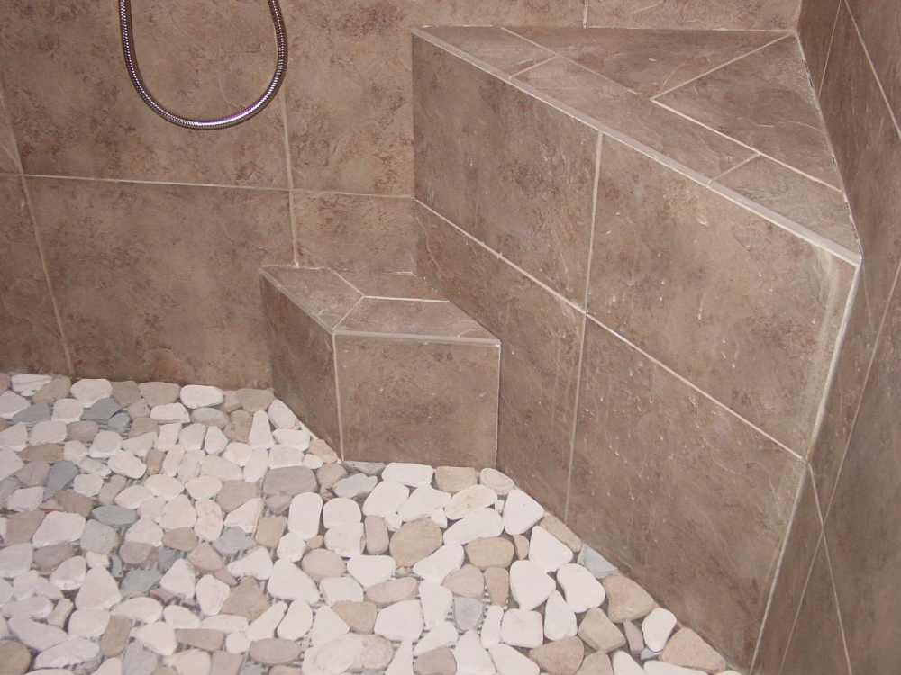 1000x750px 7 Nice Pebble Shower Floor Picture in Bathroom
