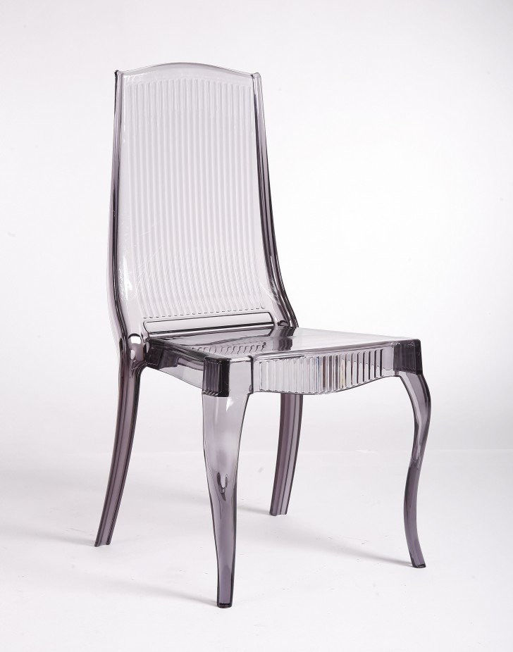 Furniture , 6 Stunning Lucite Dining Chairs : smoke acrylic dining chair