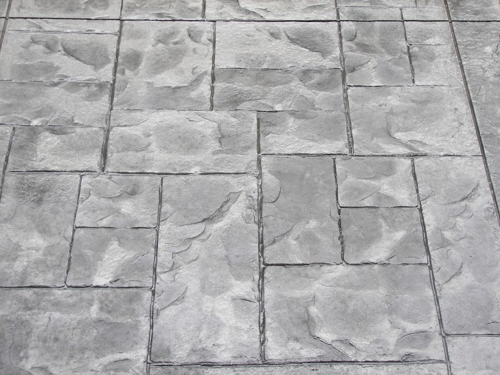 Others , 7 Superb Stamped Concrete Patterns : stamped ashlar slate pattern