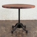 table cum dining table , 7 Gorgeous Reclaimed Wood Round Dining Table In Furniture Category