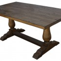 table design is simple , 7 Fabulous Reclaimed Wood Trestle DiningTable In Furniture Category