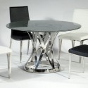 table design is simple , 7 Hottest Crackle Glass Dining Table In Dining Room Category