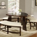 triangle merlot dining table , 7 Awesome Triangle Dining Table With Benches In Dining Room Category