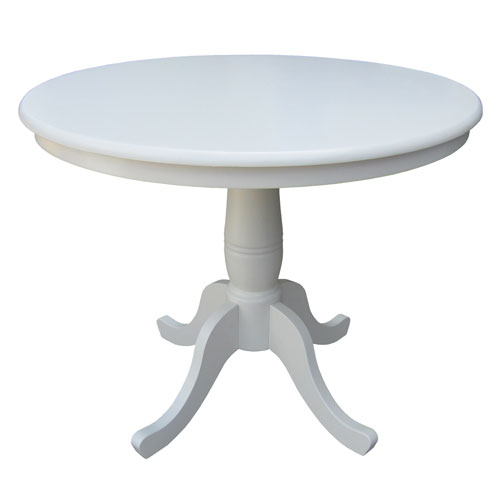 Furniture , 7 Good Lovely 36 Inch Round Pedestal Dining Table : white pedestal dining table
