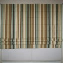 window treatments for bay windows , 7 Superb Striped Roman Shades In Interior Design Category