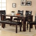 wood dining table , 7 Hottest Crackle Glass Dining Table In Dining Room Category