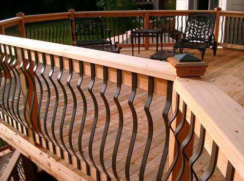 500x372px 5 Ultimate Wrought Iron Deck Railing Picture in Others