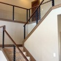 wrought iron railings , 7 Good Cable Stair Railing In Interior Design Category