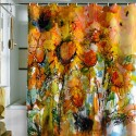 Abstract Sunflowers Shower Curtain , 7 Popular Sunflower Shower Curtain In Others Category