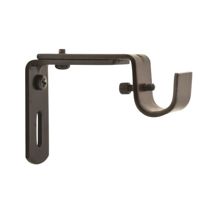 Others , 7 Awesome Adjustable Curtain Rod Brackets : Adjustable Single Curtain
