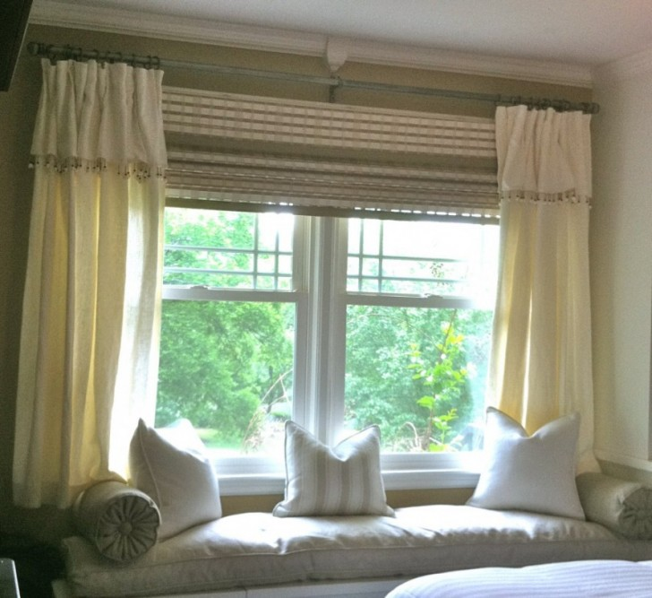 Interior Design , 8 Charming Bay Window Curtain Ideas : Amazing Bay Window